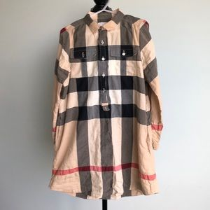 Burberry exploded check long sleeve dress size 8yr
